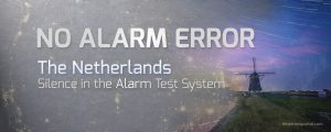 Alarm test system error in the Netherlands
